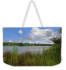 Weekender Tote Bag featuring the photograph Billowing by Linda Brown