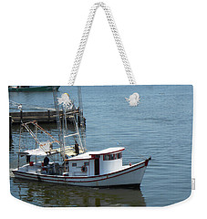 Bilouxi Shrimp Boat Weekender Tote Bag by Cynthia Powell