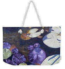 Weekender Tote Bag featuring the painting Biltmore Lilypads by Robert Decker
