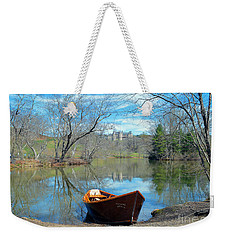 Weekender Tote Bag featuring the photograph Biltmore Reflections by Li Newton