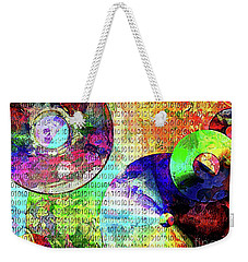 Binary Data Abstract Weekender Tote Bag