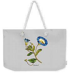 Weekender Tote Bag featuring the digital art Bindweed by Asok Mukhopadhyay