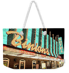 Weekender Tote Bag featuring the photograph Binions Hotel And Casino by Aloha Art