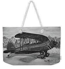 Biplane In Black And White Weekender Tote Bag