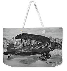 Biplane In Black And White Weekender Tote Bag