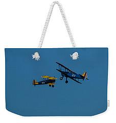 Biplanes Near Collision 5x7 Weekender Tote Bag