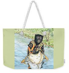 Birch Bark Canoe Weekender Tote Bag