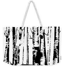 Birch Forest Black Weekender Tote Bag