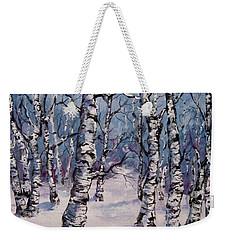Birch Forest  Weekender Tote Bag by Megan Walsh