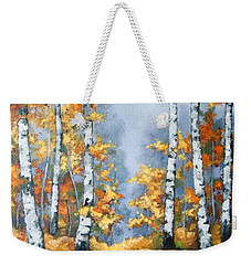 Birch Forest Path Weekender Tote Bag