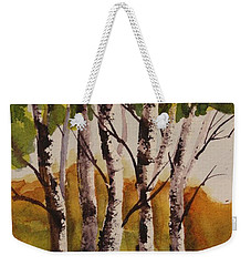 Weekender Tote Bag featuring the painting Birch by Marilyn Jacobson
