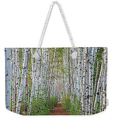 Birch Path Weekender Tote Bag