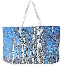 Birch Sky Weekender Tote Bag
