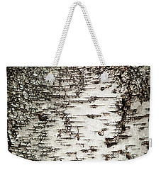 Weekender Tote Bag featuring the photograph Birch Tree Bark by Christina Rollo