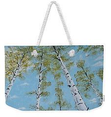 Birch Trees And Sky Weekender Tote Bag