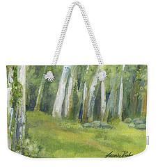 Birch Trees And Spring Field Weekender Tote Bag