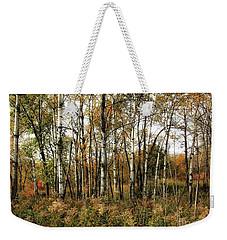 Birch Trees In Autumn Weekender Tote Bag by Jimmy Ostgard