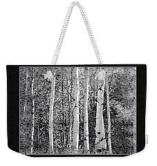 Weekender Tote Bag featuring the photograph Birch Trees by Susan Kinney