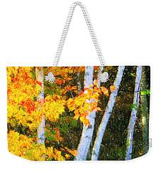 Birch Trees Weekender Tote Bag by Verena Matthew
