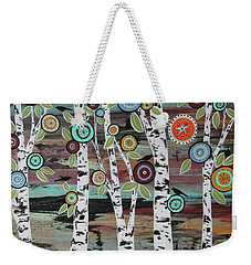 Birch Woods Weekender Tote Bag by Karla Gerard