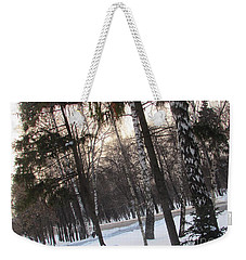 Birches And Firs Weekender Tote Bag