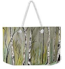 Birches Before Spring Weekender Tote Bag
