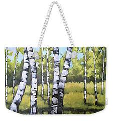 Birches In Spring Mood Weekender Tote Bag