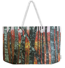 Birches In The Fall Weekender Tote Bag