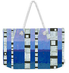 Birches With Blue And Lavender Weekender Tote Bag