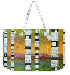 Birches With Olive And Orange Weekender Tote Bag
