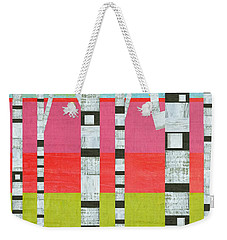 Birches With Pink And Green Weekender Tote Bag
