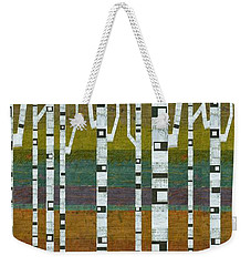 Birches With Teal And Purple Weekender Tote Bag