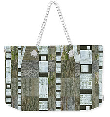 Birches With Wooden Background Weekender Tote Bag