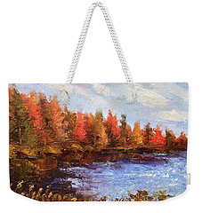 Birchwood Lake Weekender Tote Bag
