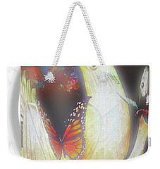 Bird And Butterflies Coffee Mug Weekender Tote Bag by Gayle Price Thomas