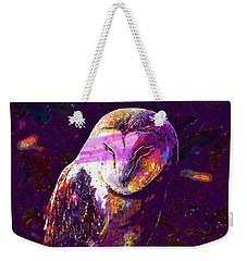 Weekender Tote Bag featuring the digital art Bird Barn Owl Owl Barn Animal  by PixBreak Art