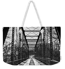 Bird Bridge Black And White Weekender Tote Bag
