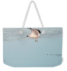 Bird Caught Fish Weekender Tote Bag