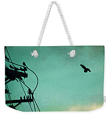 Weekender Tote Bag featuring the photograph Bird City Revisited by Trish Mistric