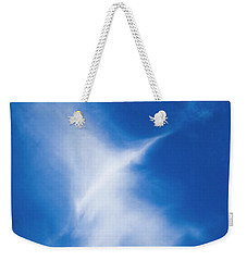 Weekender Tote Bag featuring the photograph Bird Cloud by Yulia Kazansky