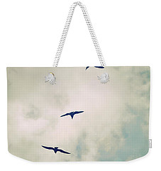 Weekender Tote Bag featuring the photograph Bird Dance by Lyn Randle