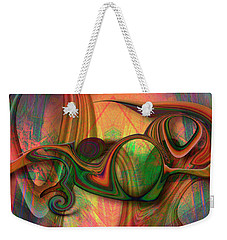 Bird Eats Cat Weekender Tote Bag by Steve Sperry