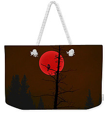 Weekender Tote Bag featuring the digital art Bird In A Tree by Stuart Turnbull
