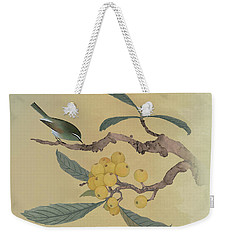 Bird In Loquat Tree Weekender Tote Bag