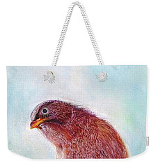 Weekender Tote Bag featuring the painting Bird by Jasna Dragun