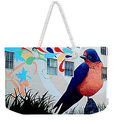 San Francisco Blue Bird Painting Mural In California Weekender Tote Bag