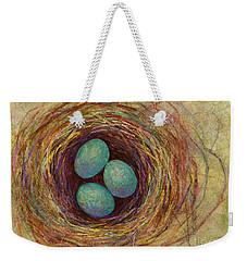 Bird Nest Weekender Tote Bag by Hailey E Herrera