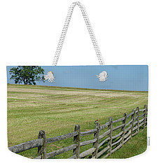 Bird On A Fence Weekender Tote Bag by Donald C Morgan