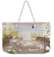 Bird On The Mud Flats Of The Elbe Weekender Tote Bag