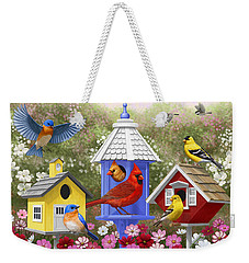 Bird Painting - Primary Colors Weekender Tote Bag by Crista Forest